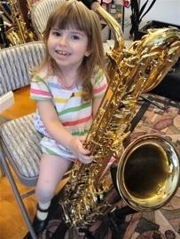 Girl with Baritone Saxophone
