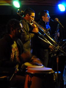 trombone and sax